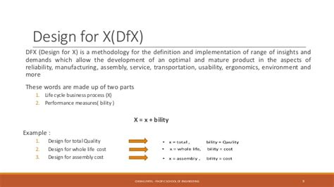 design for x manufacturing product design and value engineering pdve ch 1 introduction