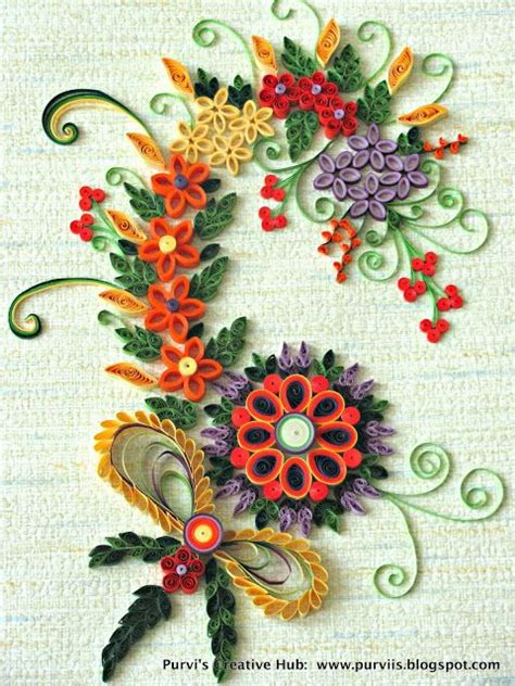 Craft Work Paper Flowers - purvi s creative hub quilled work it s