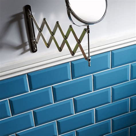 turquoise blue glass ls metro teal wall tiles 10 x 20cm stonetrader co uk
