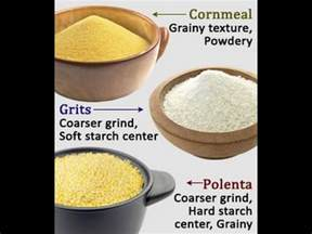 highlighting the difference between polenta grits and cornmeal youtube