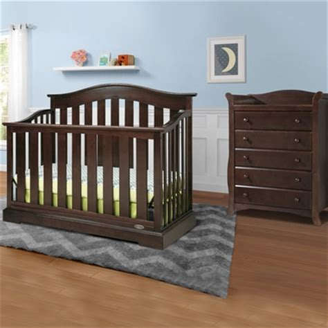 Graco Cribs Westbrook 2 Piece Nursery Set 4 In 1 Convertible Crib And Dresser Set