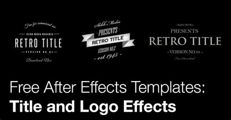 free logo templates after effects free after effects templates title and logo effects the