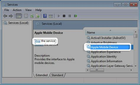 apple mobile service device how to restart the apple mobile device service amds on