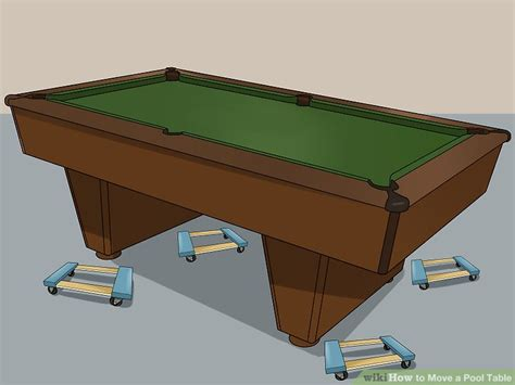 how to a pool table 3 ways to move a pool table wikihow