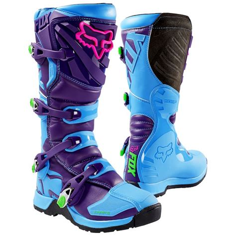 blue dirt bike boots fox racing youth comp 5 se boot revzilla