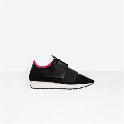 pink balenciaga sneakers s black pink black race runners balenciaga