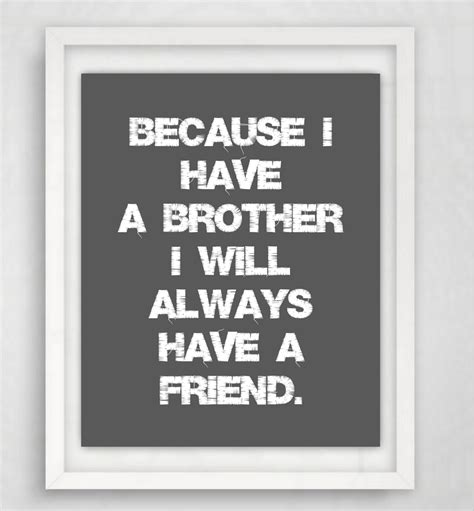 printable brother quotes brother quote brother print gift for brother brothers wall