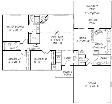 house plans with open concept one story house plans with open concept house plan