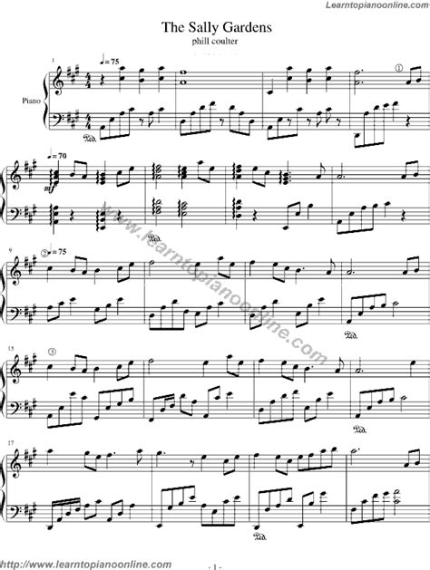 By The Sally Gardens by The Sally Gardens Green Trail By Bandari Free Piano Sheet
