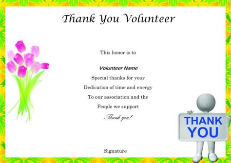 thank you certificates templates volunteer certificates the right way 19 free