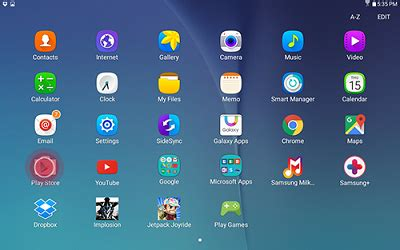 samsung app store an app from the play store on your samsung galaxy tab e