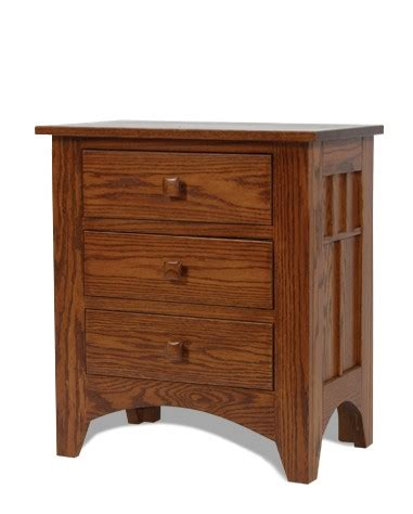 night table regular height drawers crate designs furniture amish made mission three drawers nightstand