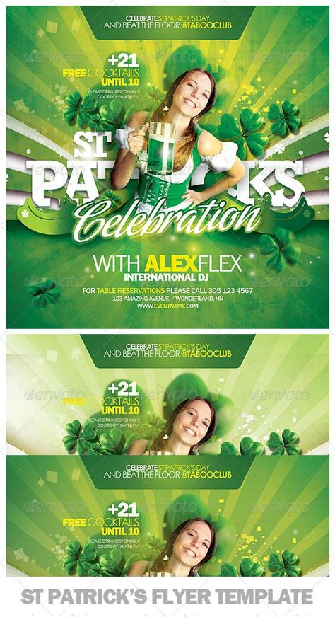 st patricks day flyer template  eamejia graphicriver