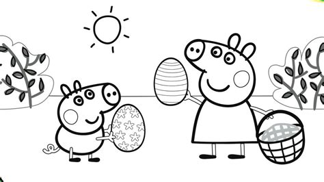 colouring pictures of peppa pig and george pig coloring page image clipart images grig3 org