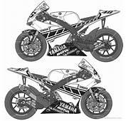 Coloriage &224 Imprimer  V&233hicules Moto Yamaha Num&233ro 237770