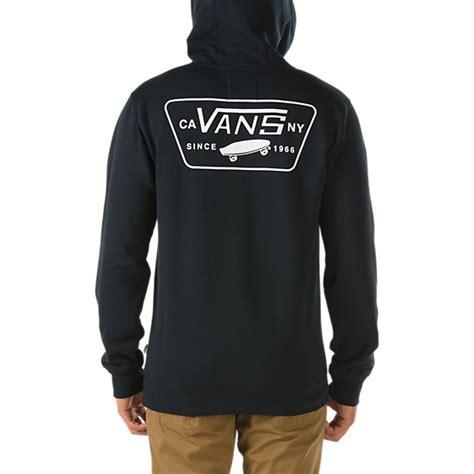 Hodie Sweter Vans Pulka Skate Black patched pullover hoodie shop mens sweatshirts at vans