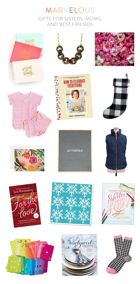 gifts for sisters moms and best friends em for marvelous