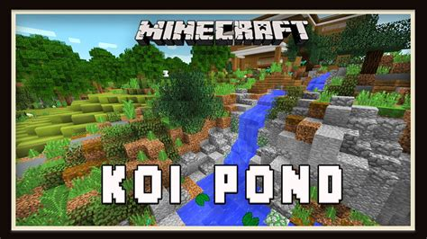 Minecraft Home Design Tips minecraft koi pond garden landscaping design modern