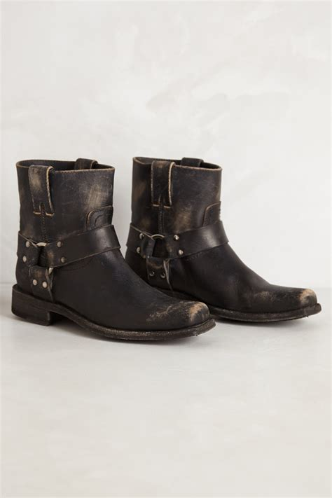 frye smith harness boots in black lyst