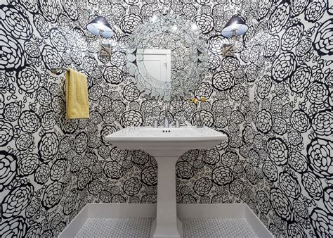 wallpaper bathroom designs 15 beautiful reasons to wallpaper your bathroom hgtv s