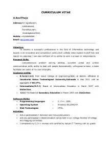 A Sle Of Resume For by Sle Resume For Best Free Home Design Idea