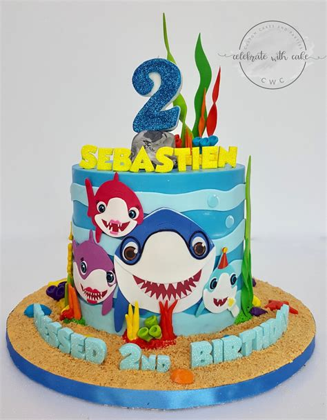 Baby Shark Bday Cake | celebrate with cake baby shark family