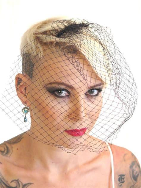Wedding Hair Accessories Birdcage Veil by Birdcage Veil Black Wedding Birdcage Veil Bridal Hair