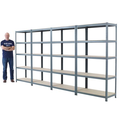 metal garage shelving new 5 shelf metal shelving 71 quot hx36 quot wx24 quot d steel garage warehouse storage shelves