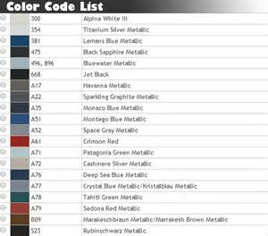 Bmw Color Codes 07 13 Bmw E82 128i 135i Coupe Painted Color Performance