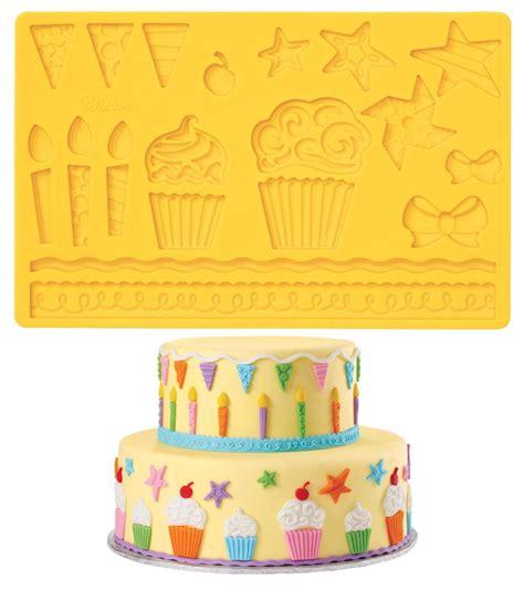 wilton fondant gum paste mold imprinted texture cake
