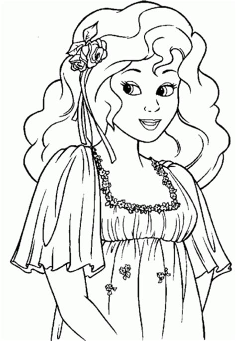 Princess Coloring Page Coloring Town Coloring Pics Of Princesses Free Coloring Sheets