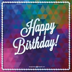 triangle vector birthday card design vector free
