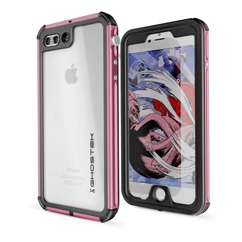 ghostek iphone   atomic  waterproof case pink ghocas  home depot