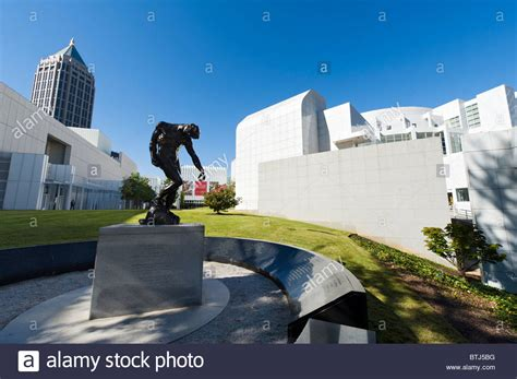 the high museum of art with rodin sculpture quot the shade quot in the stock photo royalty free image