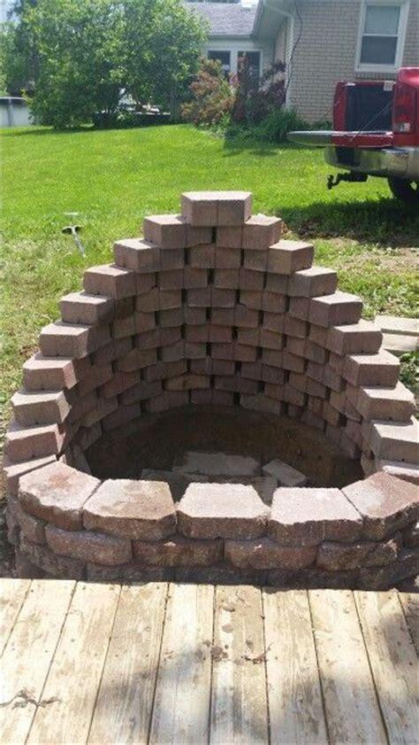 beautiful  fire pit  husband   built