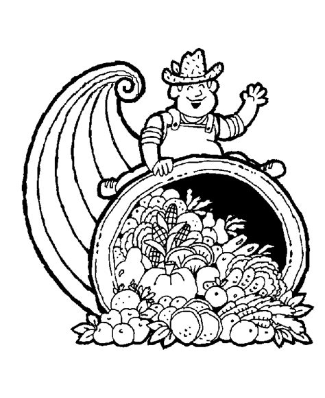 bluebonkers fall coloring sheets farmer with a horn o