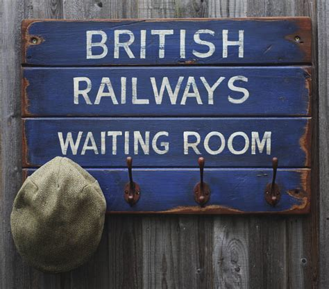 vintage style railways hook board by woods