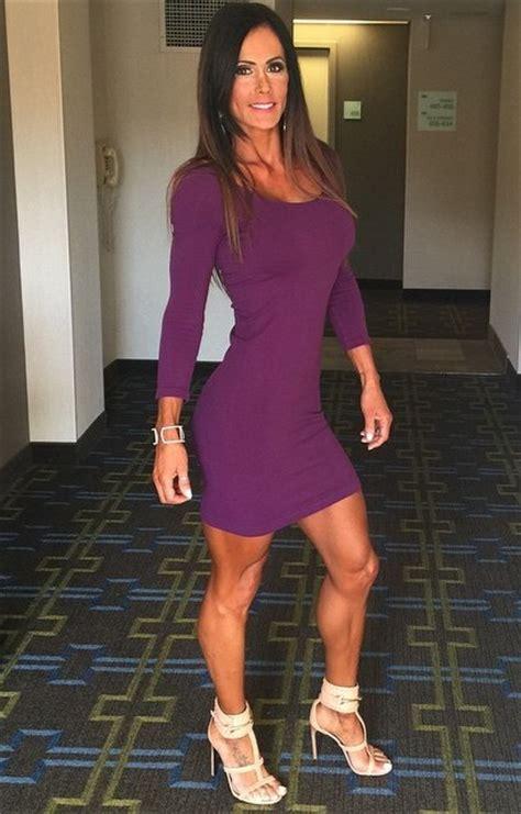 Catherine Hells superfit catherine radulic in a tight purple dress
