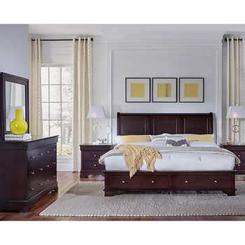 costco avalon bedroom set avalon 5 piece king storage bedroom set