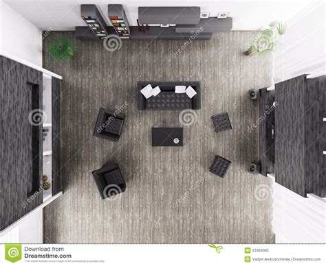 top view living room living room interior top view 3d render stock photo image 37994060