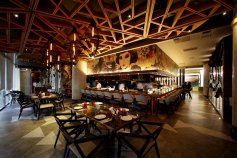 design interior cafe indonesia bam senju restaurant by metaphor interior at plaza