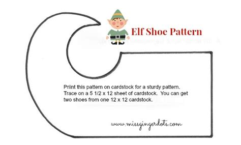 printable elf shoes best photos of templates to make elf shoes elf shoe