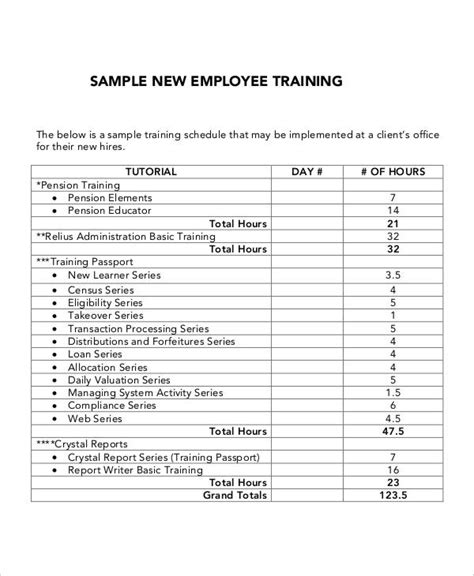 New Program Template 5 Employee Plan Templates Free Sles
