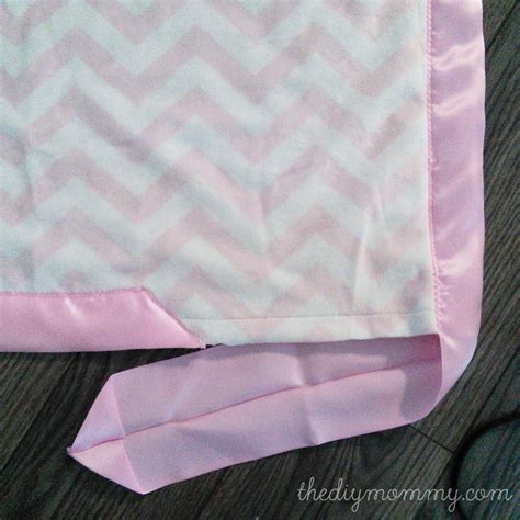 diy blanket how to sew a baby blanket with minky fabric and satin