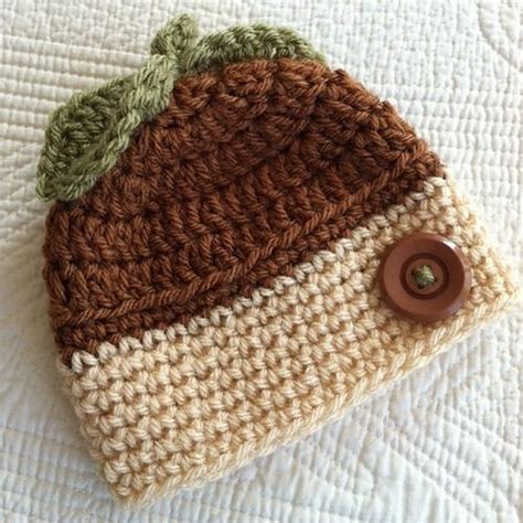 acorns to crochet free patterns grandmother s pattern book crochet acorn baby hat free pattern