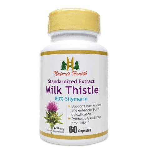 Glutathione Liver Detox by Buy Milk Thistle Seed Standardized Extract 80 Silymarin