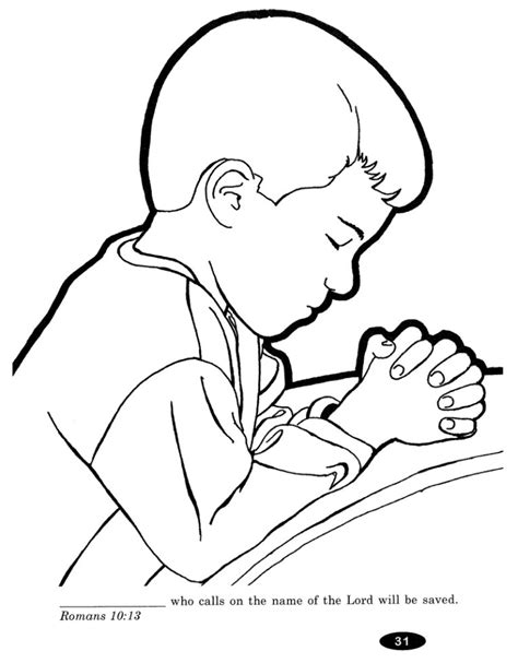 free coloring pages of child praying lds coloring page
