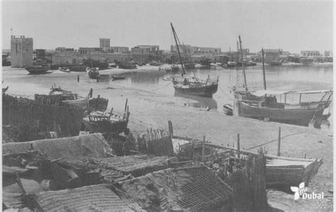 old boat uae old dubai creek in 1951 dubai creek was surrounded with