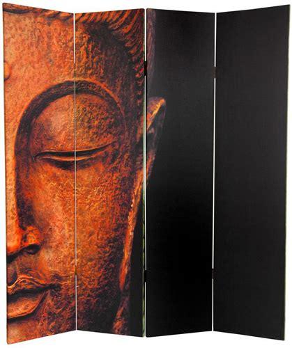buddha room divider screen 6 ft sided buddha and ganesh canvas room divider 4 panel