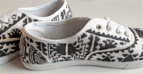 tribal patterned shoes punk projects tribal patterned shoes